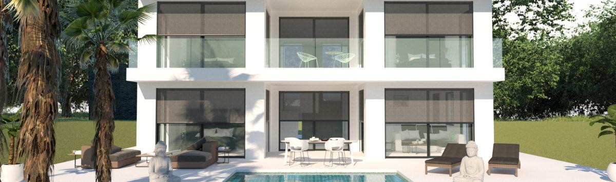 Bild zum Objekt: Lichtdurchflutete 294m² Villa mit 145m² Dachterrasse & Pool