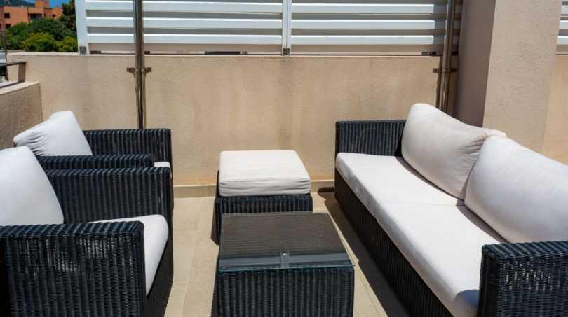 Traumhafte Lounge auf der Dachterrasse