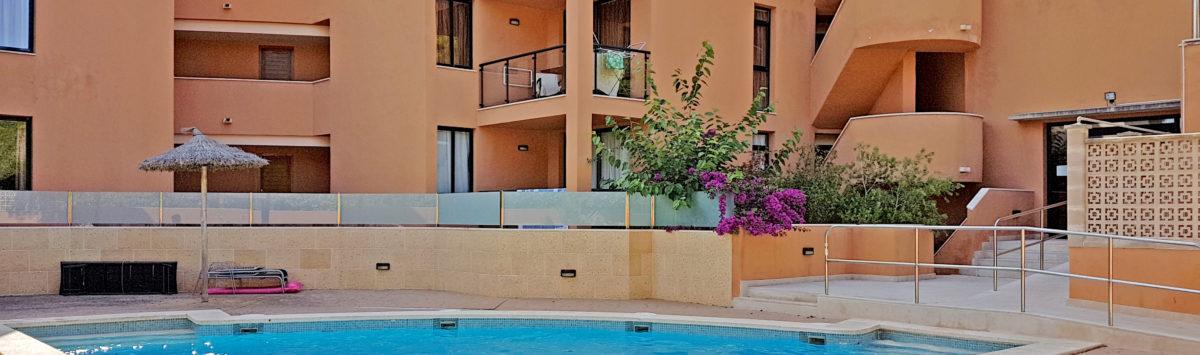 Bild zum Objekt: 50m² Apartment zum Verkauf: 2 Zimmer, Bad, Balkon & G.-Pool