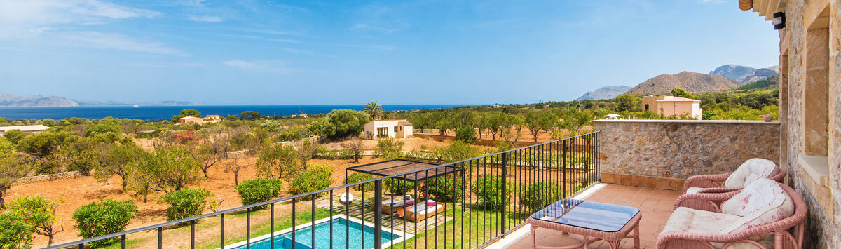 Bild zum Objekt: Luxus Finca zum Verkauf: Haupt- & Gästehaus, Garten, Pool