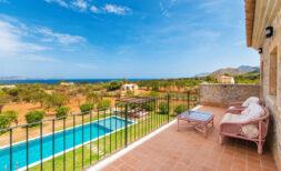 Mediterrane Traum-Finca mit 7 SZ + Gästehaus, Pool und wunderbarem 360° Meer- und Panoramablick