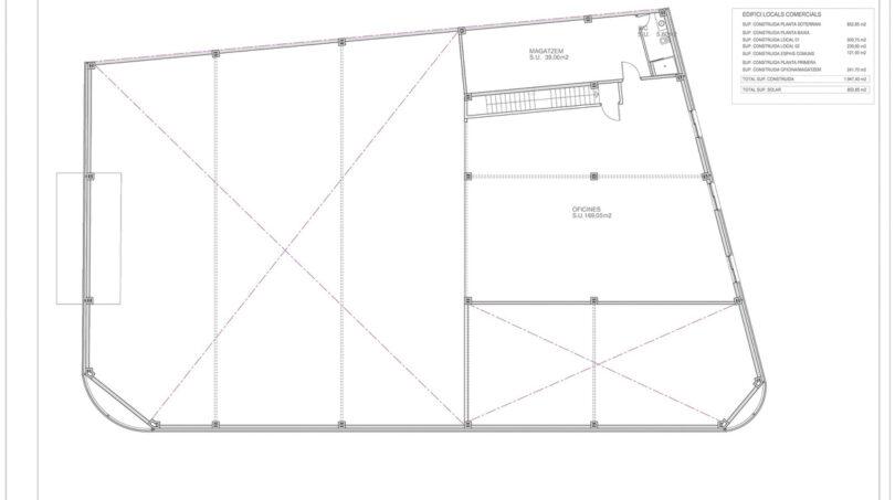 Grundriss Galerie (OG) Büroräume