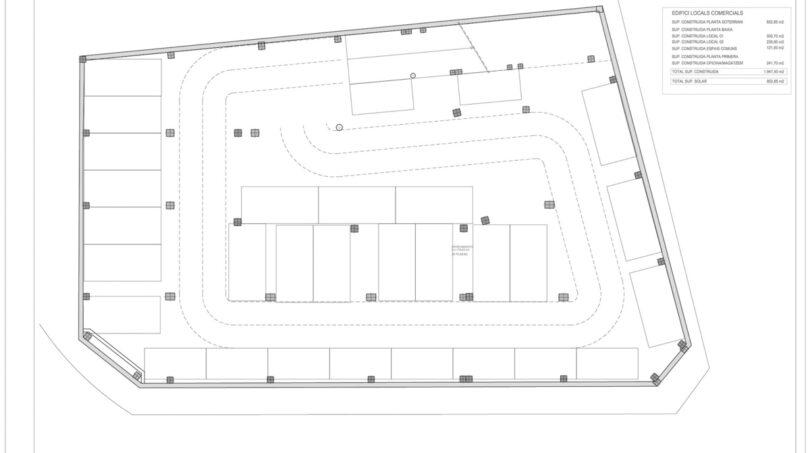 Grundriss Tiefgaragenparkplatz