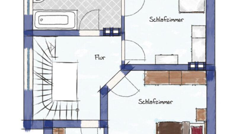 Muster Obergeschoss
